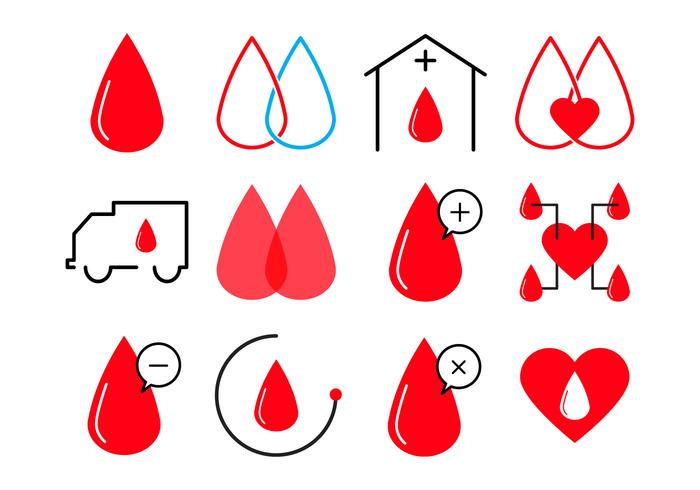 Gratis Blood Donation Icon Vector
