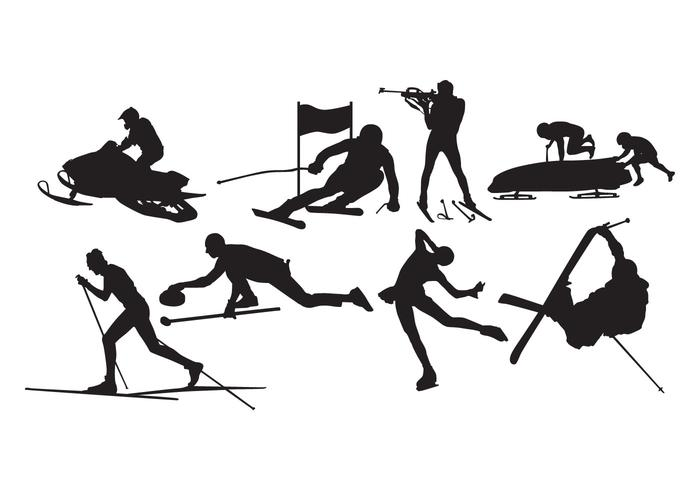 Free Winter Sport Silhouette Vector