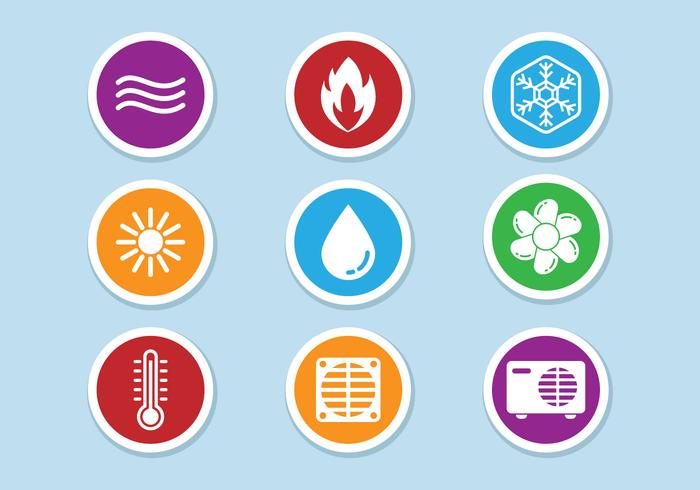 HVAC Icons Vector