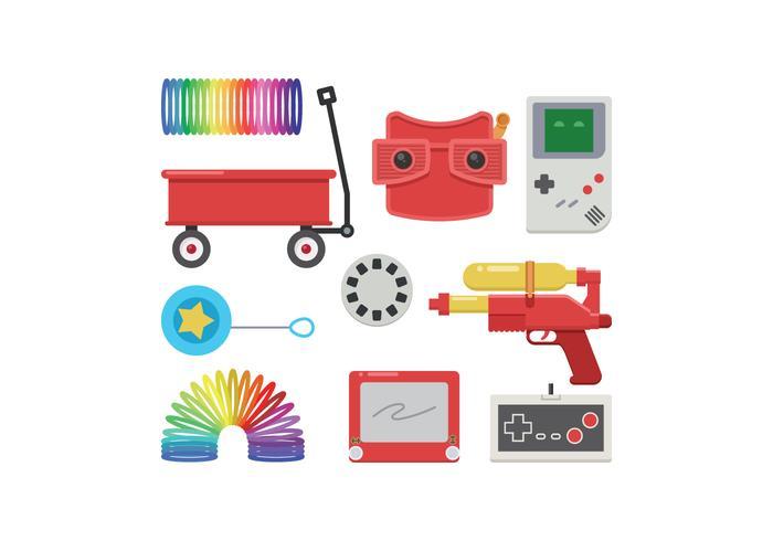 Free Retro Toys Vector