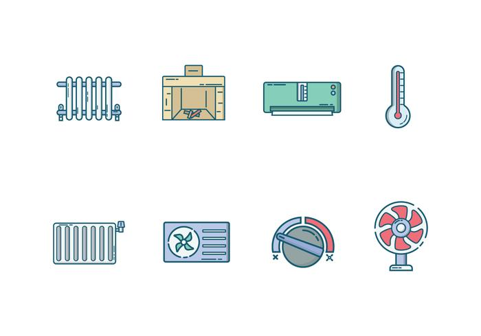 Free Heating and Cooling System Vector