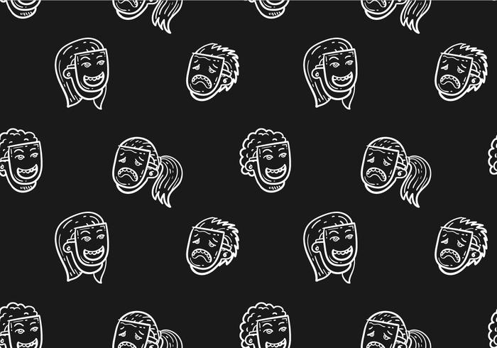 Free Teatro Seamless Pattern Vector Illustration