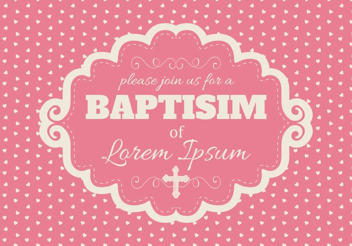 Jolie carte rose baptisim