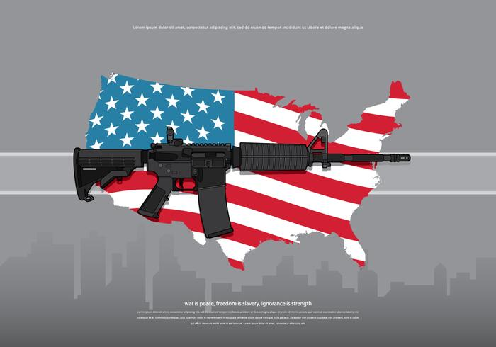 Ar15 amerika armé illustration