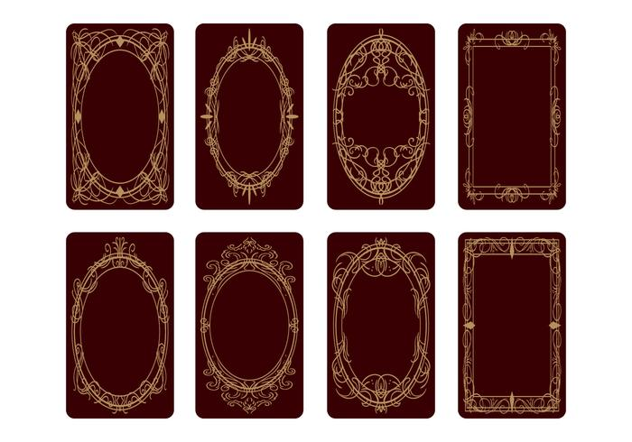 Tarot Card Back Design Vector