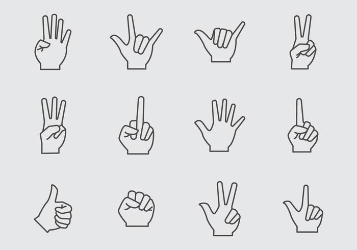 Free Hand Gesture Icons Vector