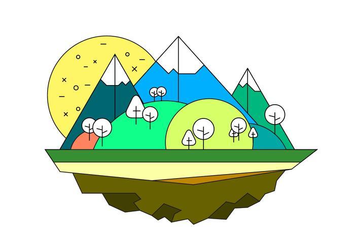 Landskap ön vektor illustration