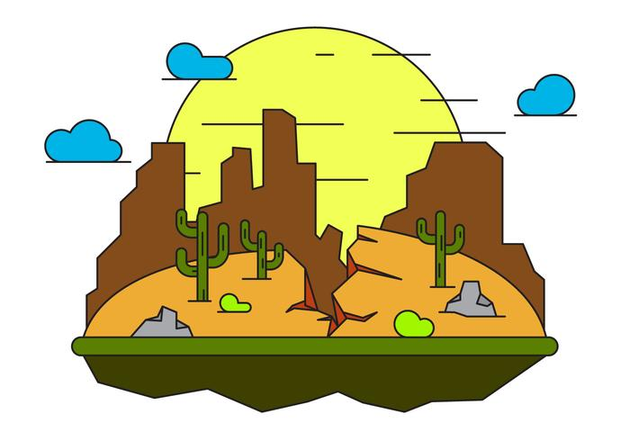 Grand Canyon Illustration Vectorisée