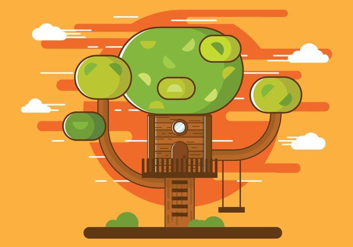 Free Illustration of Cartoon Tree House Vector