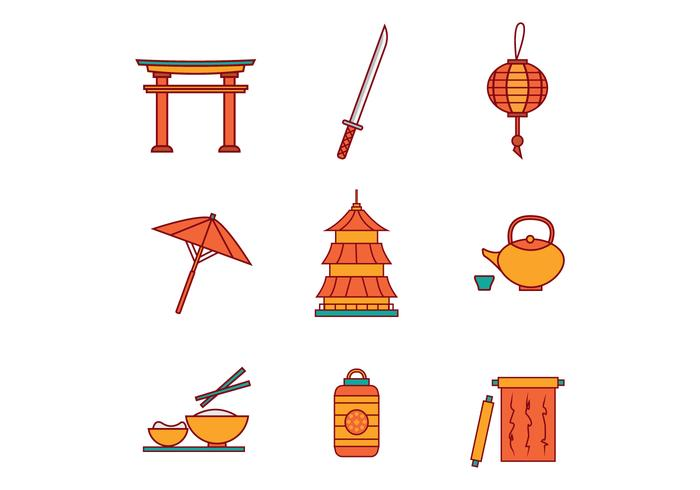 Free Japanese Icons Vector