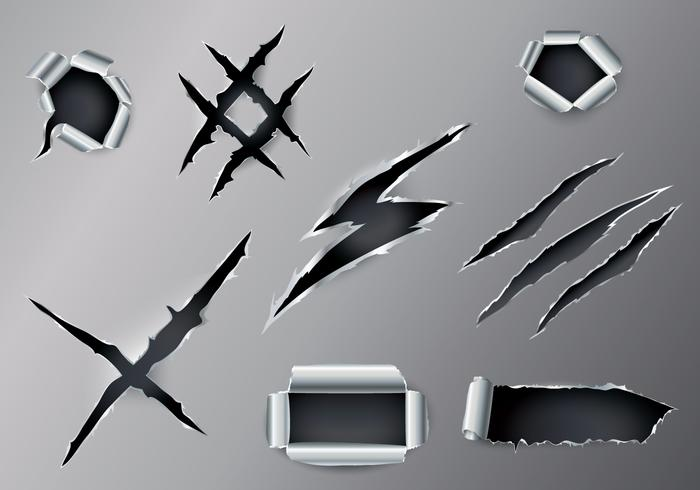 Free Ripped Metal Vector