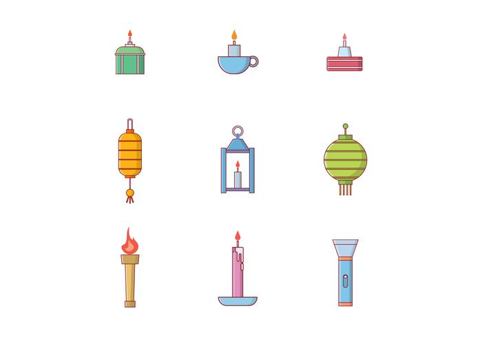 Lighting Objects Vector