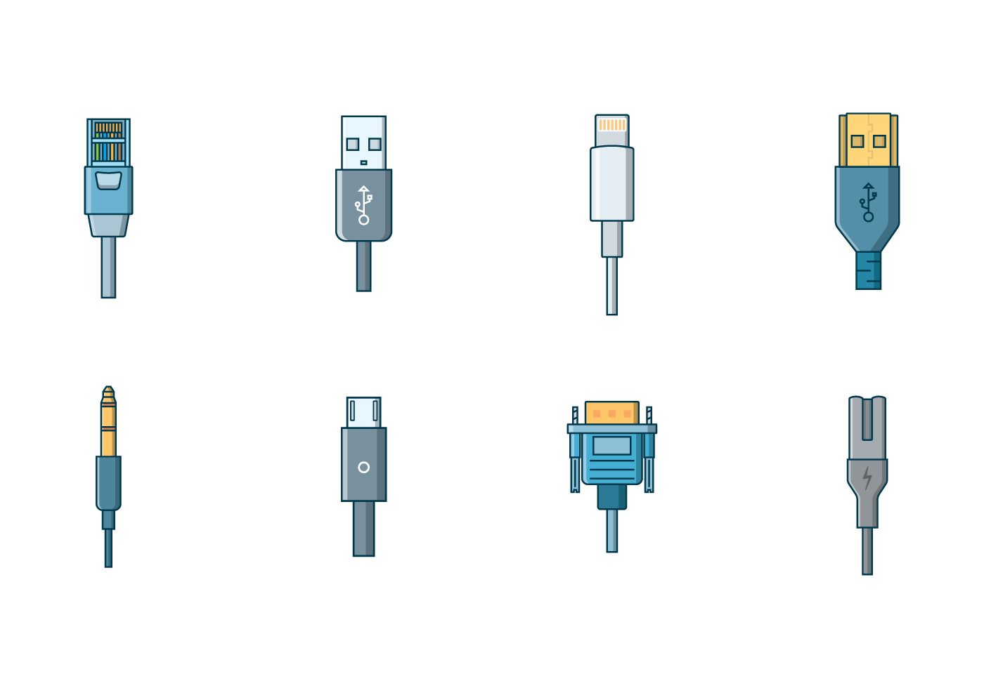 Lightning Connector Free Vector Art 162 Downloads Iphone Charger Wire Diagram For