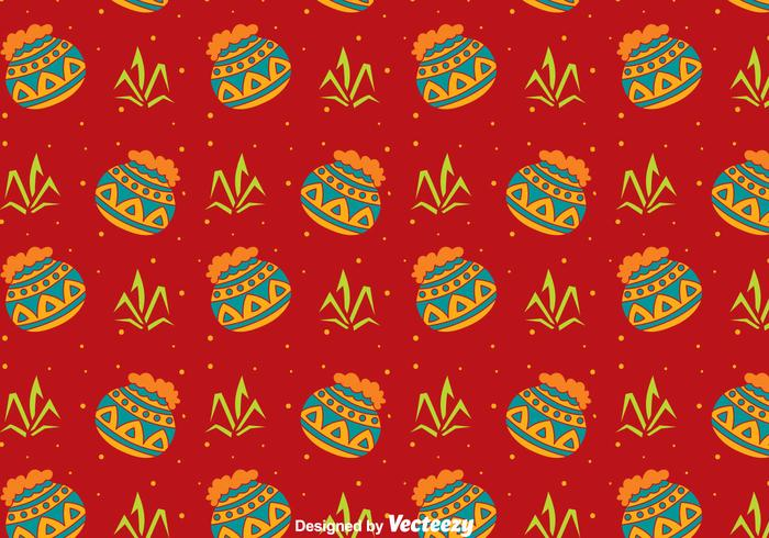Happy Pongal Seamless Pattern