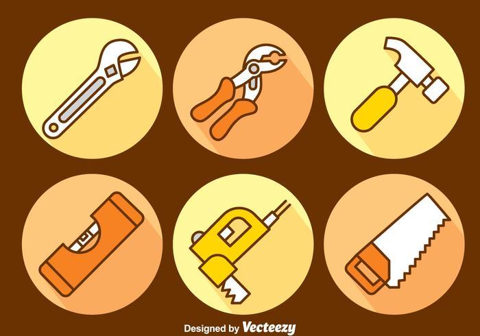 Handdragna byggverktyg vektor uppsättning