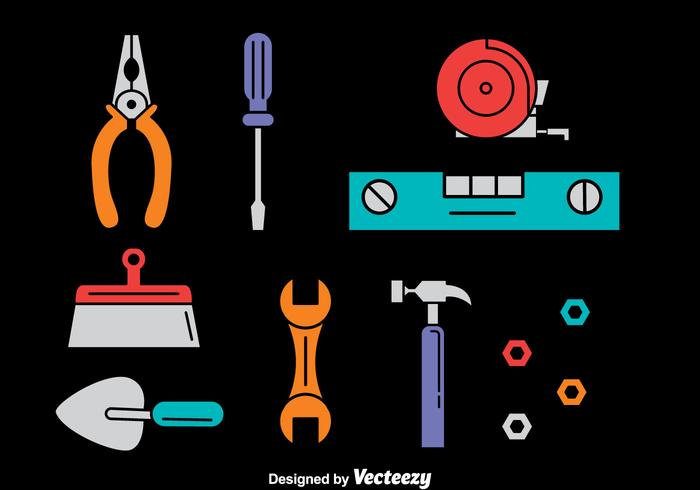 Home Repair Tools Vector Set