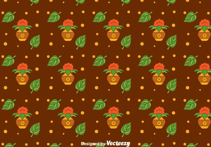 Kalash Festival Seamless Pattern