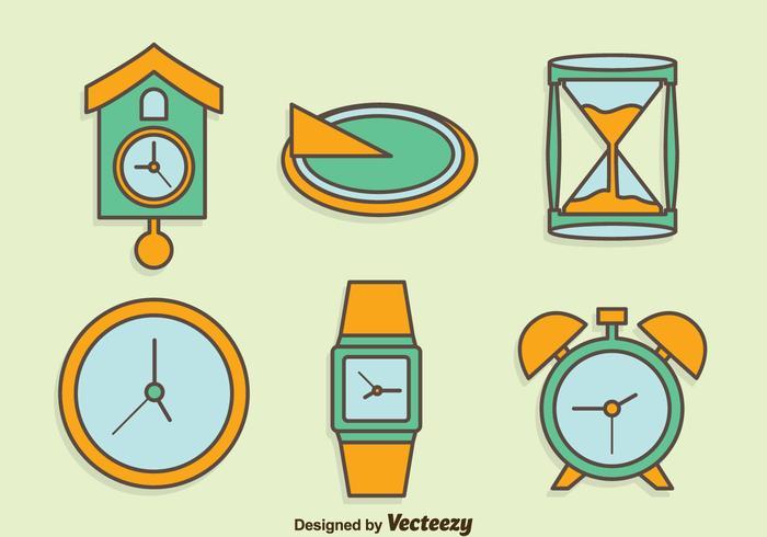 Ensemble de dessins à main dessinée Collection de montres