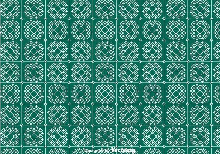 Green Keffiyeh Pattern