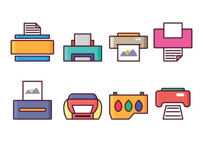 Ensemble d'icônes d'imprimante gratuit