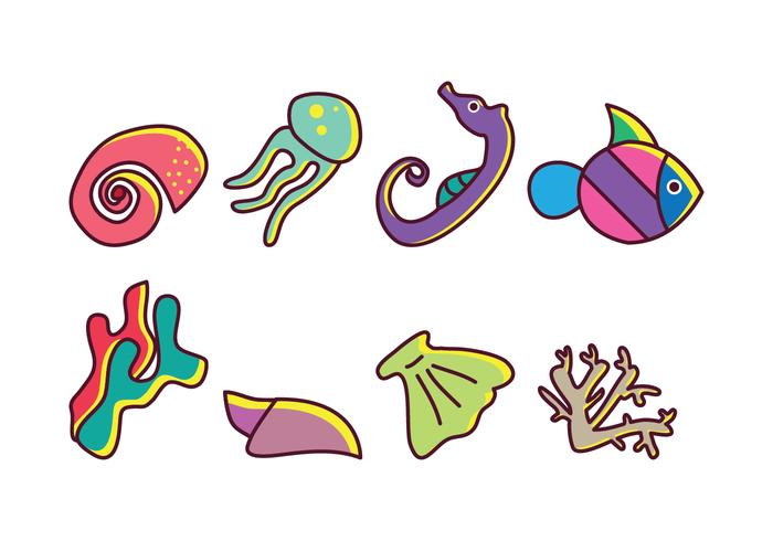 Coral Reef Vector Pack