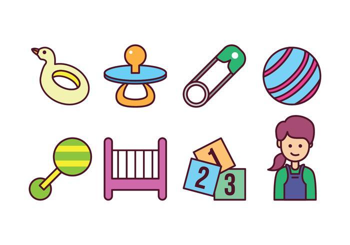 Juego de iconos gratis para bebés