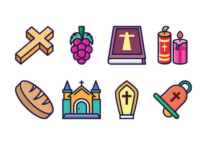 Free Eucharist Icon Set