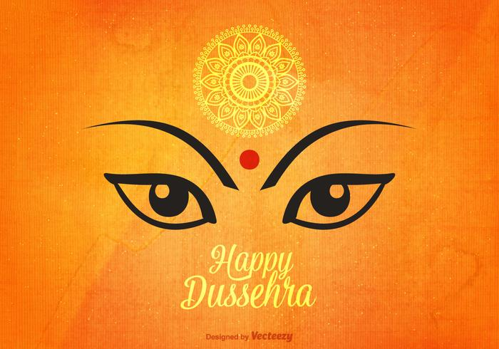 Happy Dussehra Vector Background