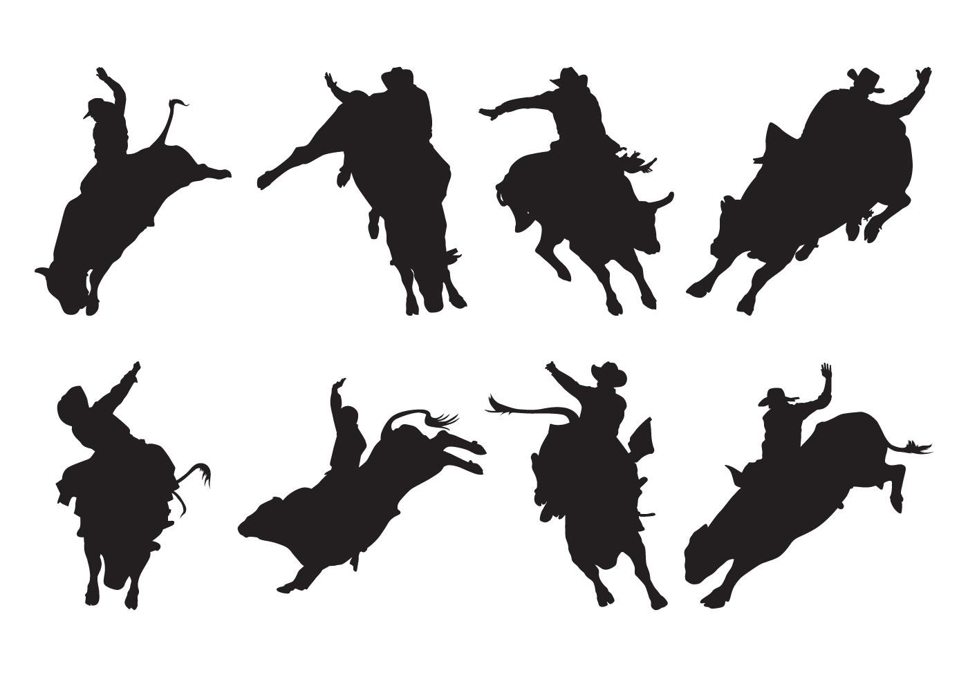 Free Bull Rider Silhouettes Vector 127744 Vector Art at ...
