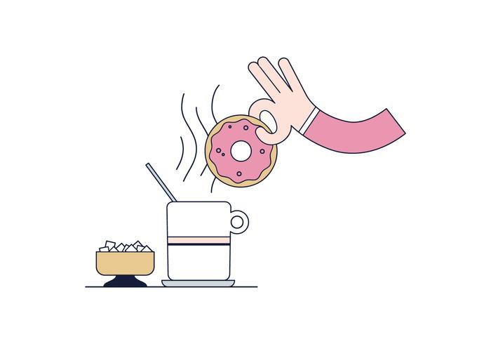 Vecteur de donut gratuit