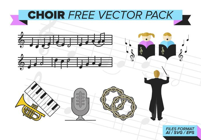 Pack de vecteur gratuit pour chorale