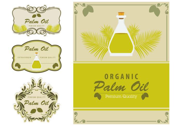 Palm Oil Labels Element