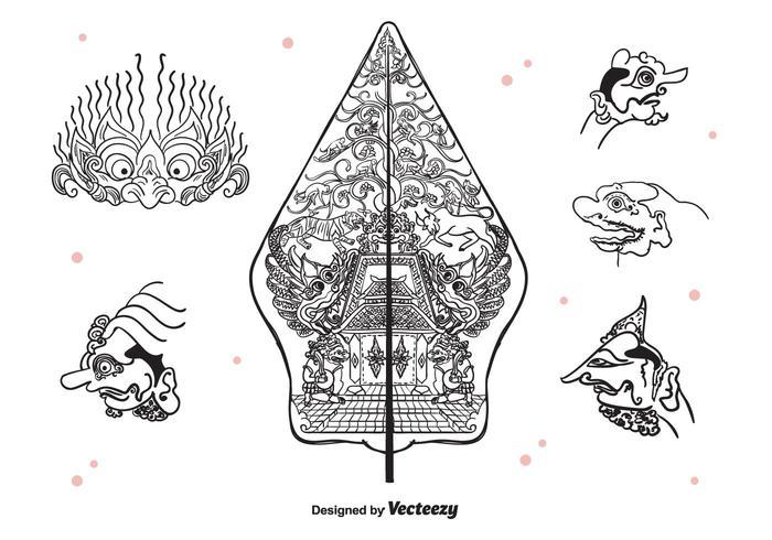 Wayang Icons Vector