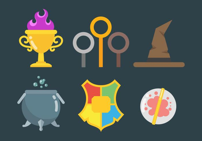 Free Hogwarts Icons Vector