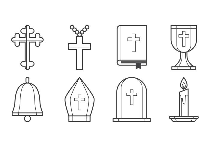 Gratis kristen ikon vektor