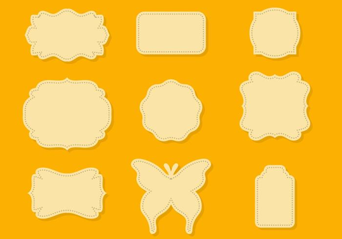 Free Die Cut Shape Vector