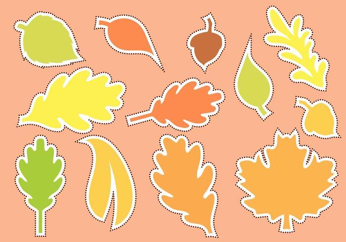 Vecteur de forme d'automne découpé gratuit