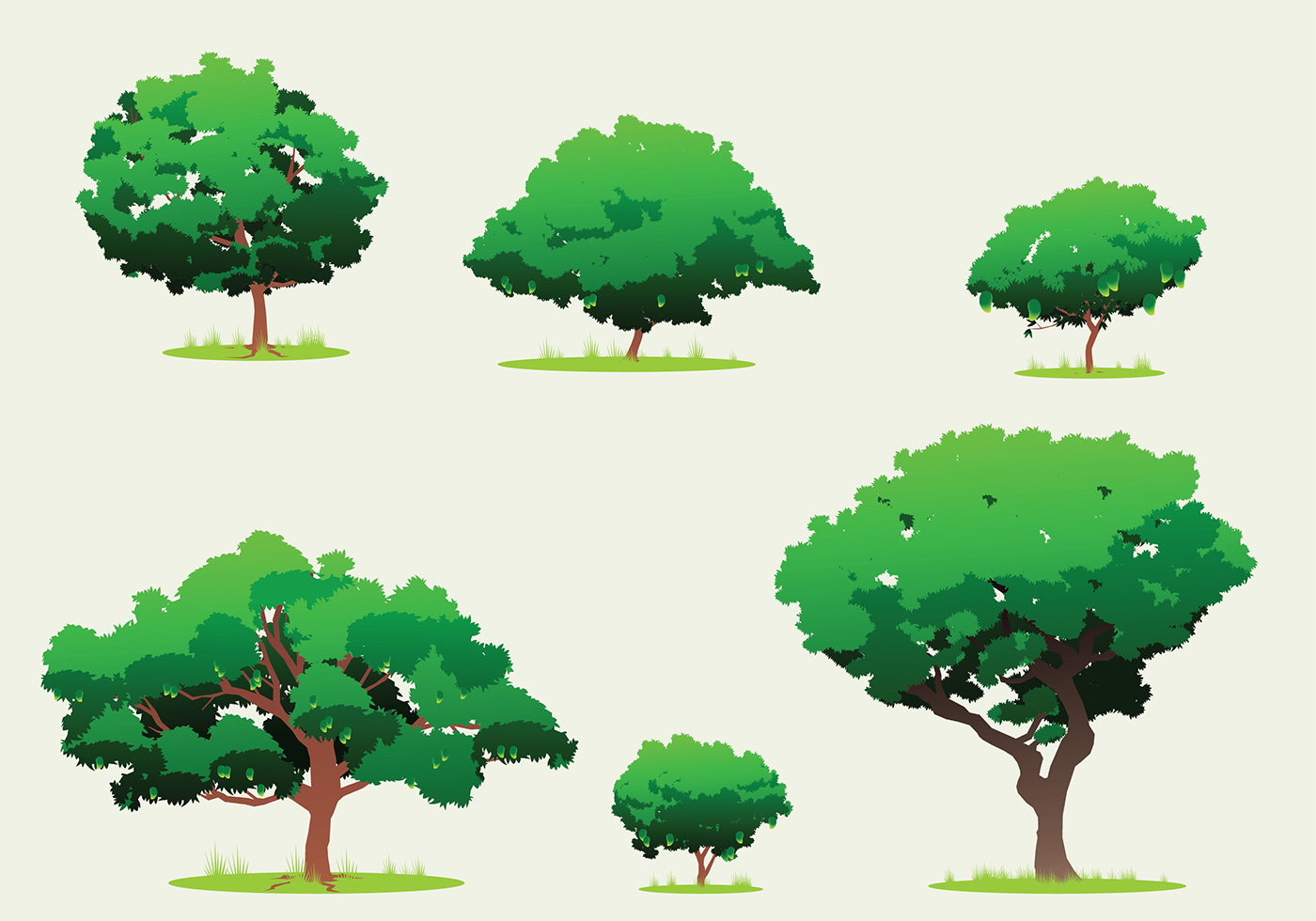 Mango Tree Free Vector - Download Free Vectors, Clipart ...