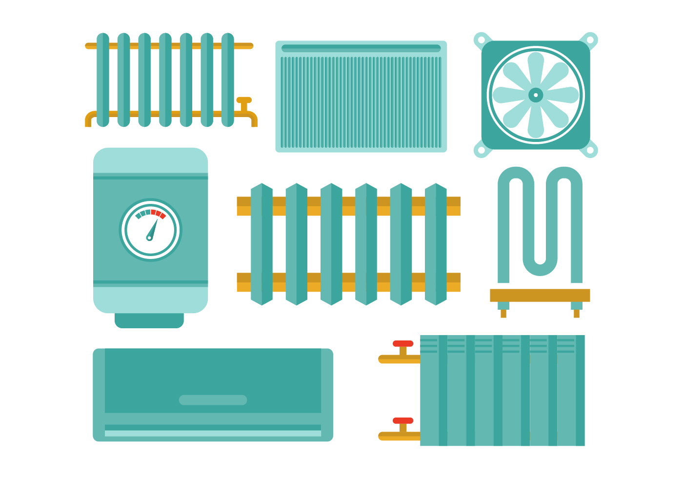 Free Radiator and Heating Flat Icon Vectors - Download Free Vector ...