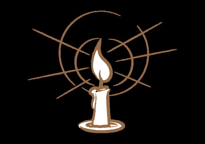 Vecteur aux bougies