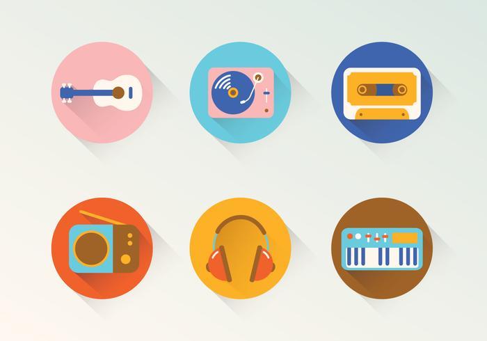 Icônes de vecteur de musique
