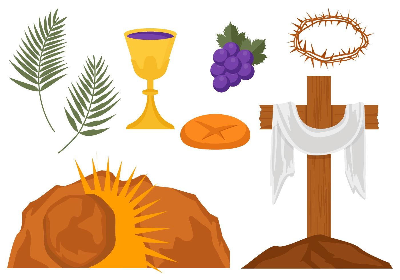 Free Holy Week Vector Illustration Download Free Vector
