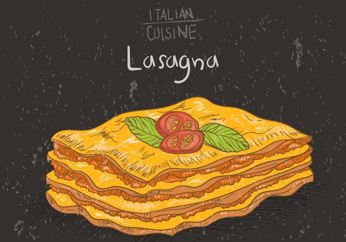 Couches de vecteur de lasagnes