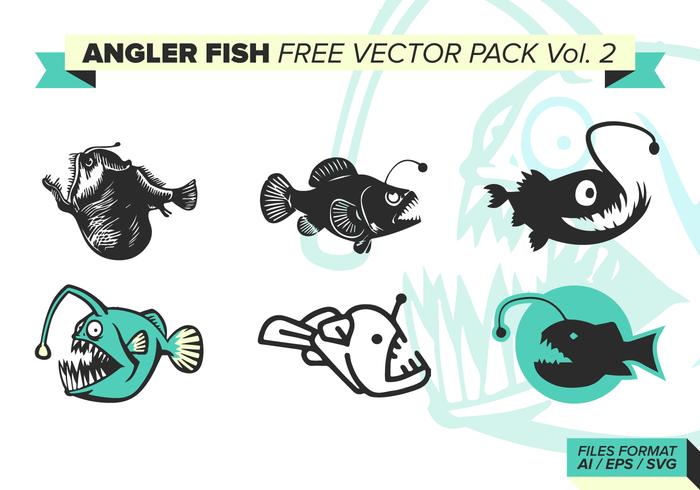 Paquet de vecteur libre de poisson pêcheur de volaille vol. 2