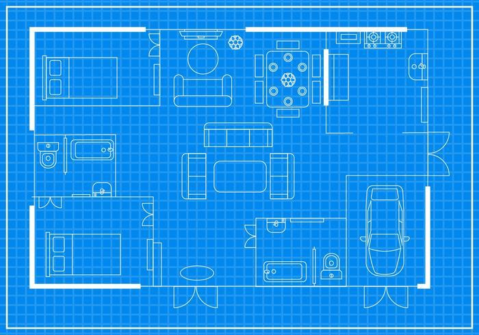 Vecteur plan gratuit de plancher d'habitation
