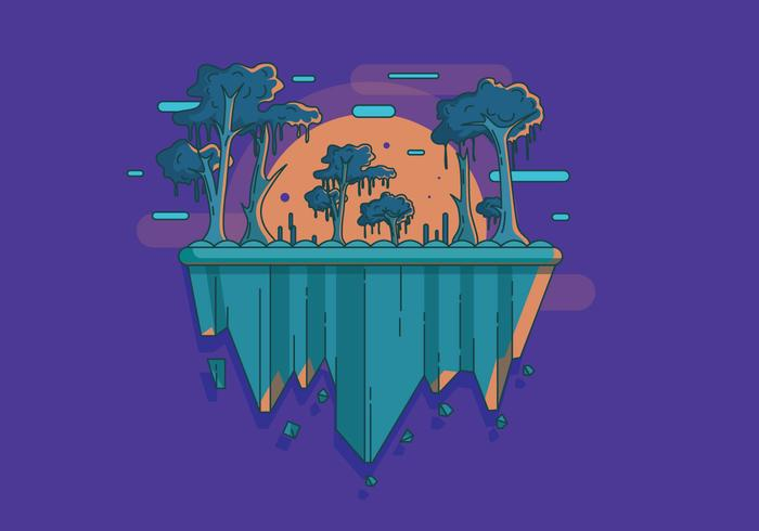 Swamp Landscape Vector