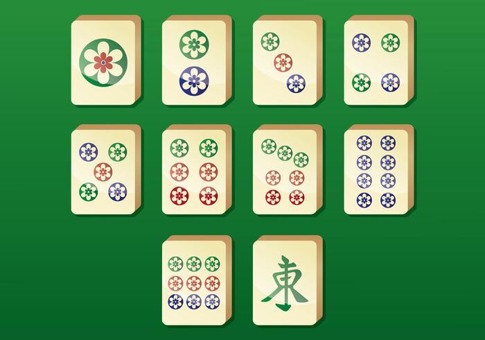 Icônes vectorielles Mahjong