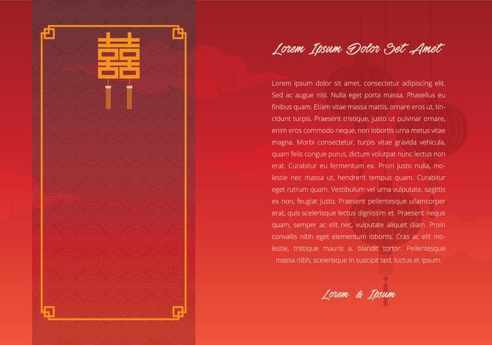 Chinese Wedding Template Illustratie