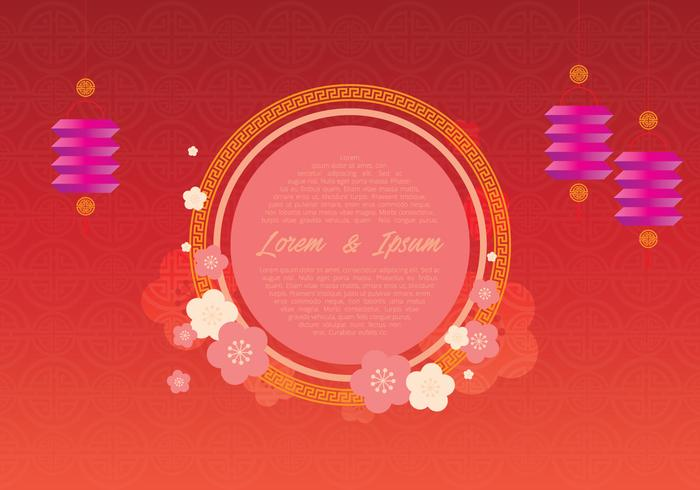 Chinese Wedding Template Illustratie