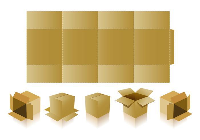 Emballage de base avec des vecteurs coupés